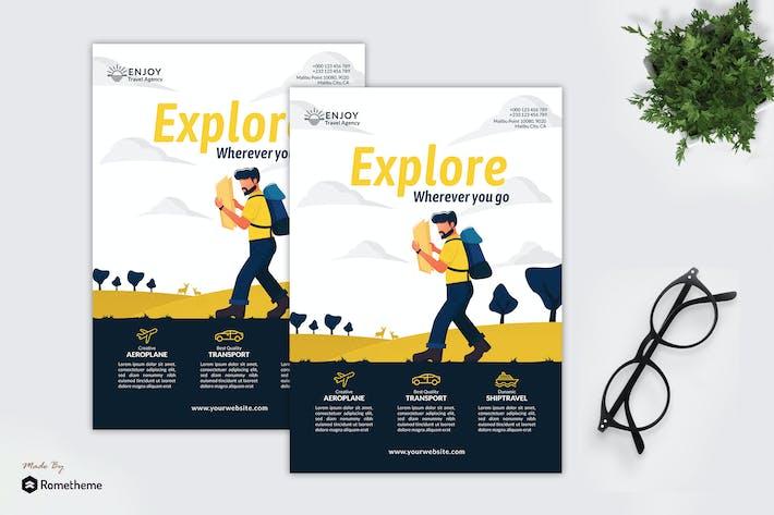 Thumbnail for Enjoy Travel Agency - Creative Flyer Vol.05 GR