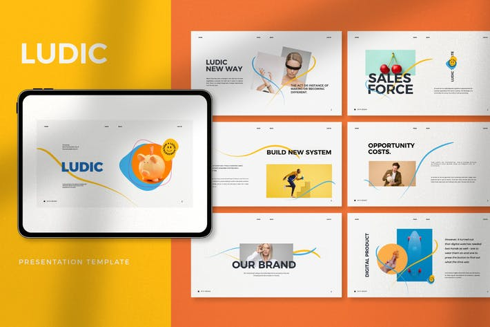 Ludic - Minimal Creative Agency Google Slides