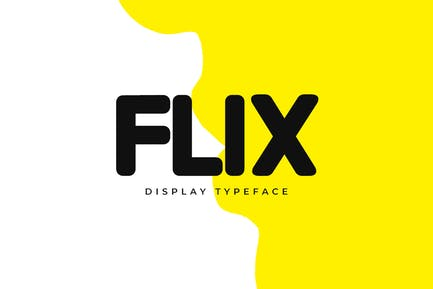FLIX - Unique Display / Logo Typeface