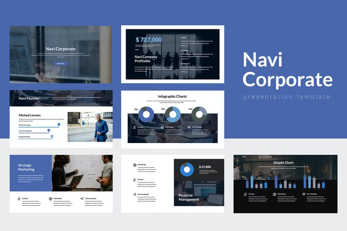 Navi - Corporate Keynote Template