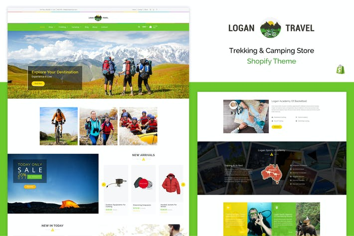 Thumbnail for Logan - Trekking & Camping Store Shopify Theme