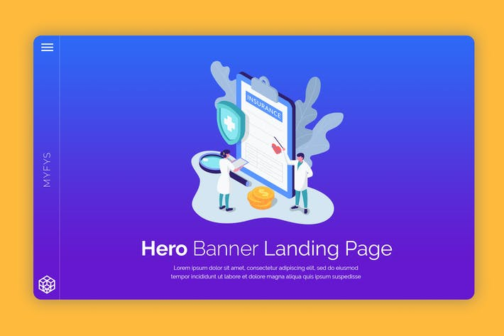 Thumbnail for Myfys - Hero Banner Template