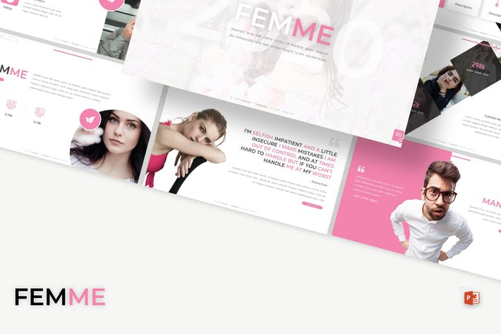 Cover Image For Femme - Powerpoint Template
