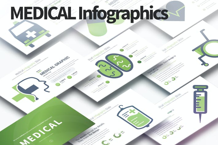 Thumbnail for Medical - PowerPoint Infographics Slides