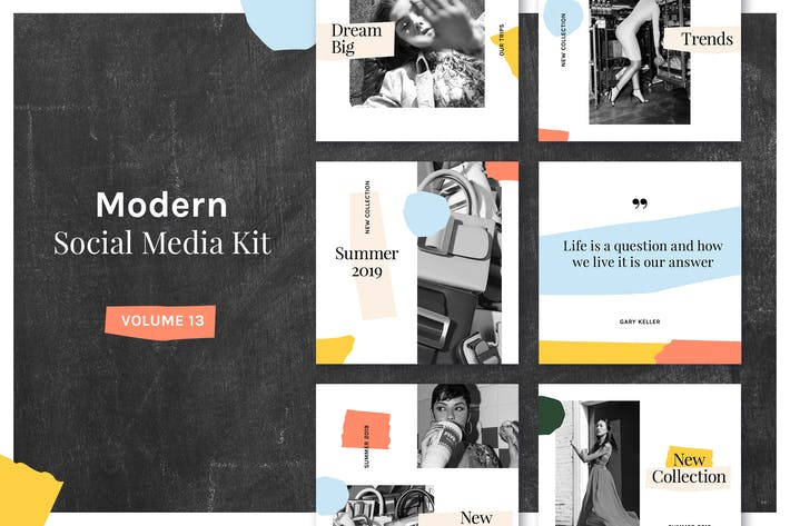 Thumbnail for Modern Social Media Kit (Vol. 13)
