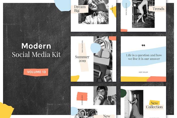 Thumbnail for Modern Social Media Kit (Vol. 13)