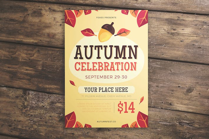 Thumbnail for Autumn Celebration Flyer