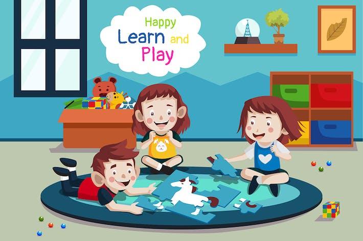 Lernen und spielen - Illustration