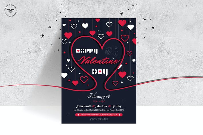 Thumbnail for Valentines Day Flyer Template