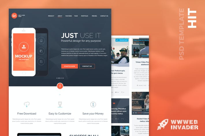 Thumbnail for HIT - Multi-Purpose PSD Template