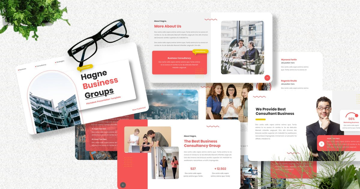 Download Hagne - Pitch Deck Powerpoint Template by Yumnacreative