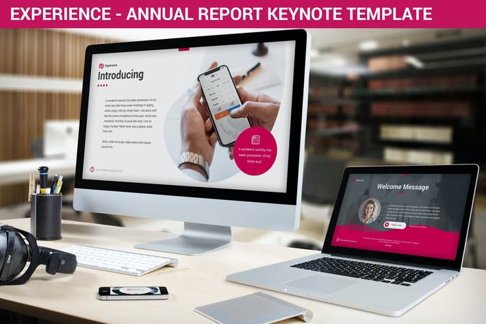 Thumbnail for Experience - Annual Report Keynote Template