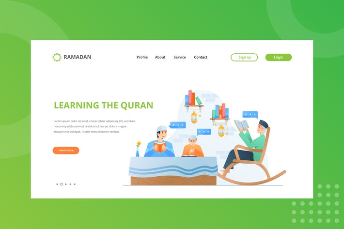 Cover Image For Learning Quran Landing Page