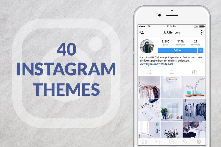 Thumbnail for 40 Instagram Themes