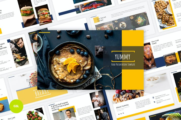 Cover Image For Yummy - Food Google Slides Template