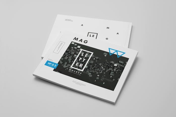 Thumbnail for US Letter Horizontal Magazine Mock-up 2