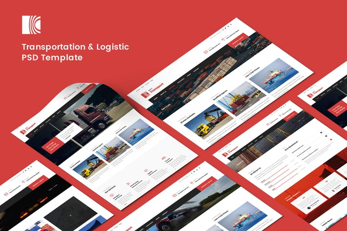 Thumbnail for Transportation & Logistic PSD Template