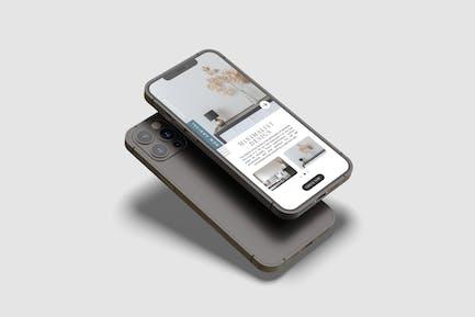 Phone 12 Max Pro Mockup