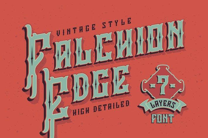 Thumbnail for Falchion Edge font