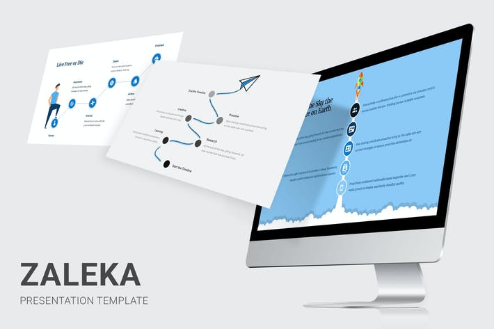 Thumbnail for Zaleka - Timeline Infographic Keynote