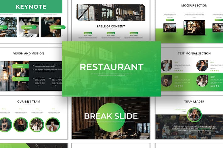 Thumbnail for Restaurant - Business Keynote Template