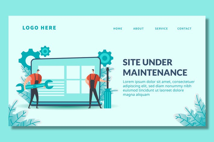 Thumbnail for Seitenwartung - Landing Page