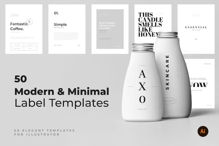 Thumbnail for 50 Modern & Minimal Label Templates