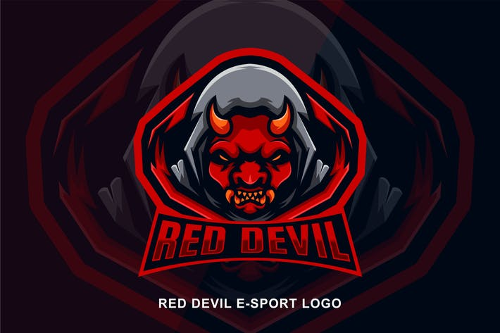 Thumbnail for Red Devil  E-Sport Logo