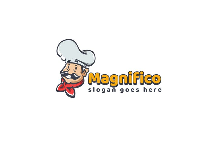Cover Image For Chef Restaurant Logo Template