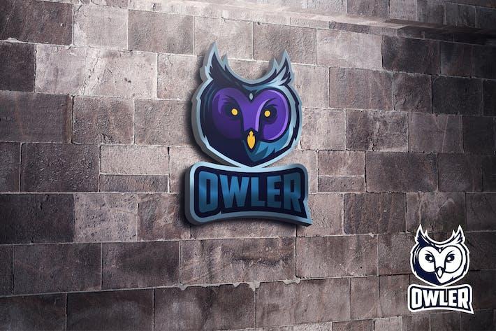 Thumbnail for Owl Mascot Esports Logo