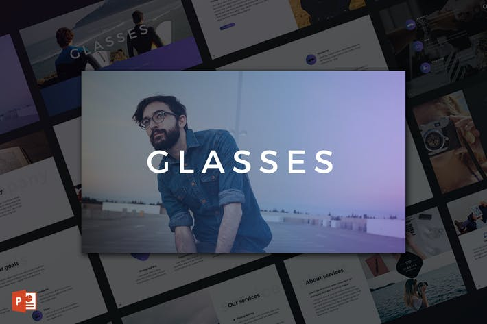 Cover Image For Glasses PowerPoint Template