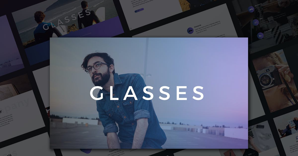 Glasses PowerPoint Template by Unknow