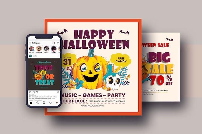Thumbnail for Halloween Festival Instagram Post Pack