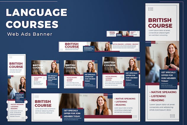 Web Ads Banners - Language Course