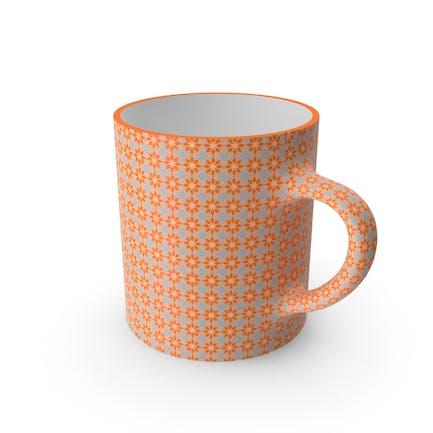 Printed Orange Flower Cup