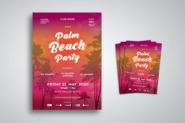Thumbnail for Beach Party Flyer