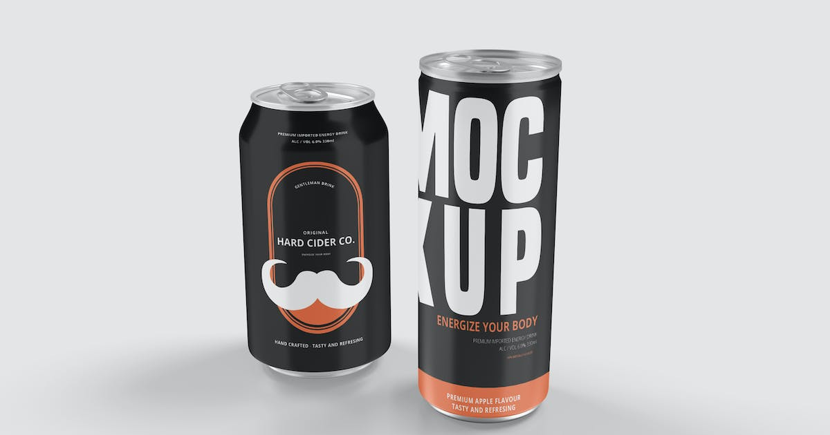 Download Softdrink Can Product Mockup Vol. 2.2 by indotitas
