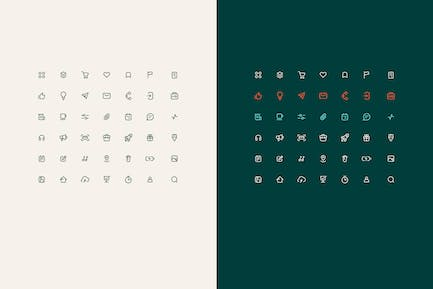 set of simple vector line icons