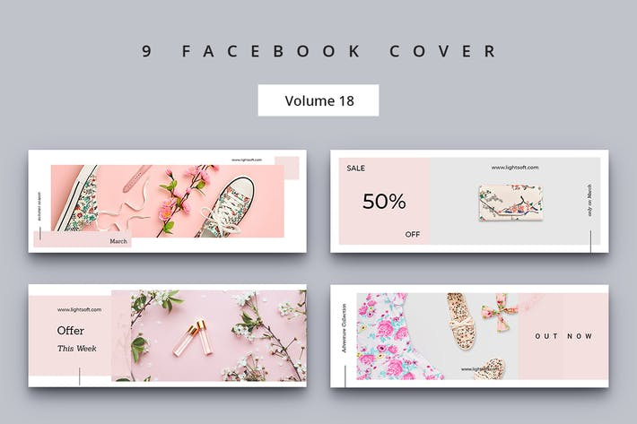 Thumbnail for Facebook Cover Vol. 18