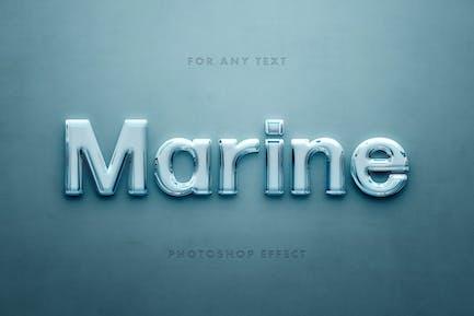 Marine Glass 3D Text Effect