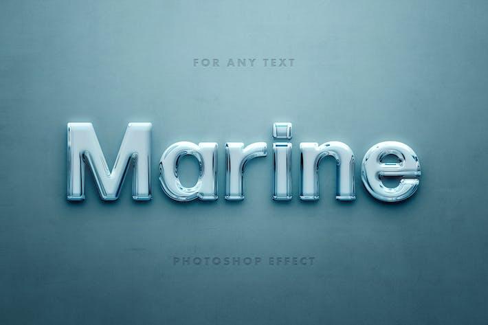 Морское стекло 3D текстовый эффект