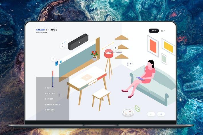 Thumbnail for Hero Header Smartthings Isometric Template