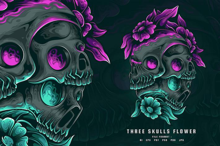 Death Skulls Flower