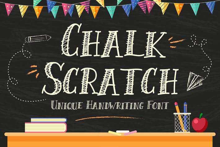 Thumbnail for Chalk Scratch Font