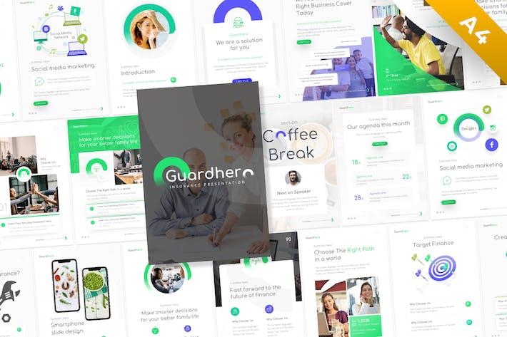 Thumbnail for Guardhero Portrait Insurance Powerpoint Template
