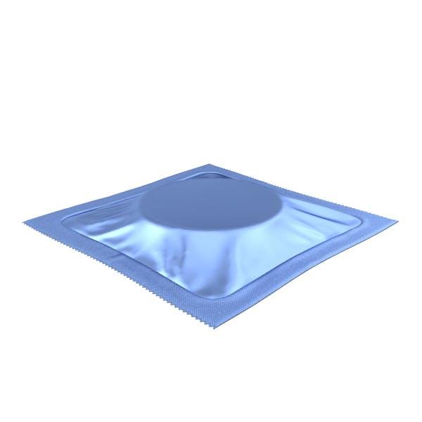 Square Condom Packaging Blue