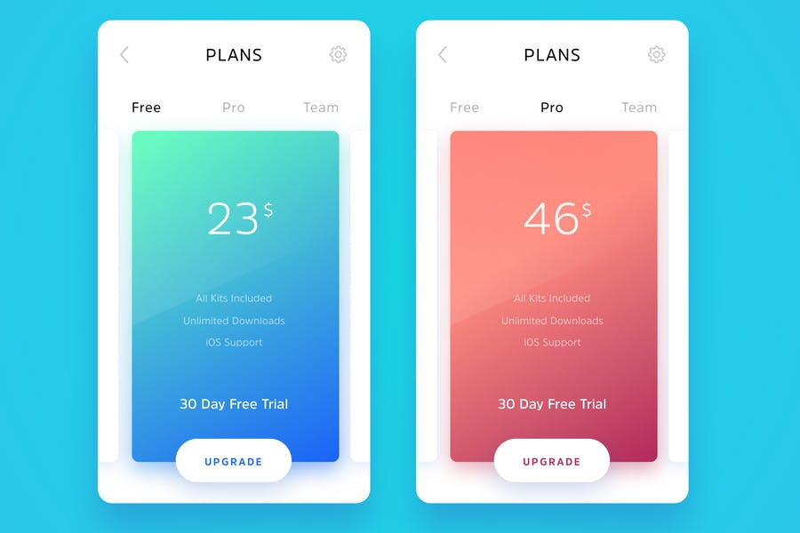 Subscription Plans Card Template
