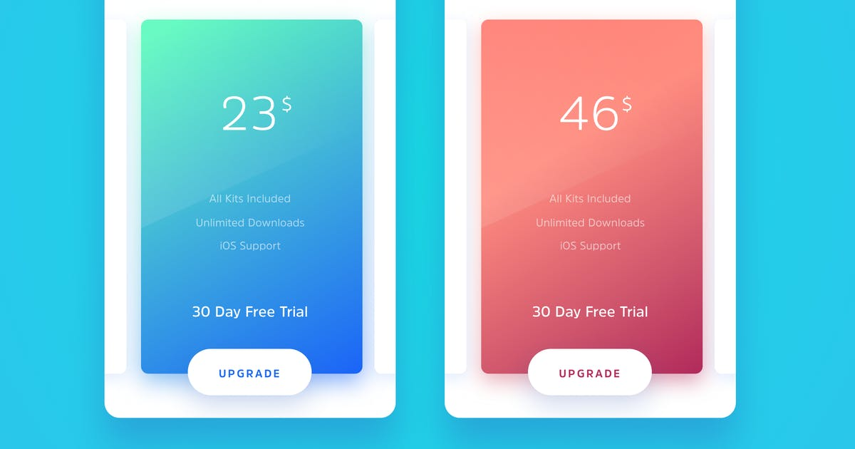 Download Subscription Plans Card Template by cerpow