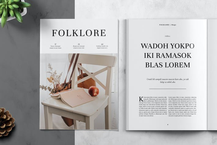 Thumbnail for FOLKLORE - Clean and Minimal Magazine Template
