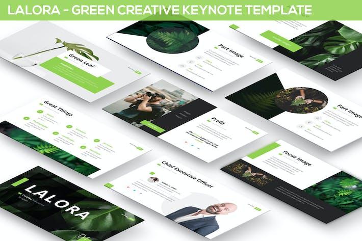 Thumbnail for Lalora - Зеленый Шаблон Keynote